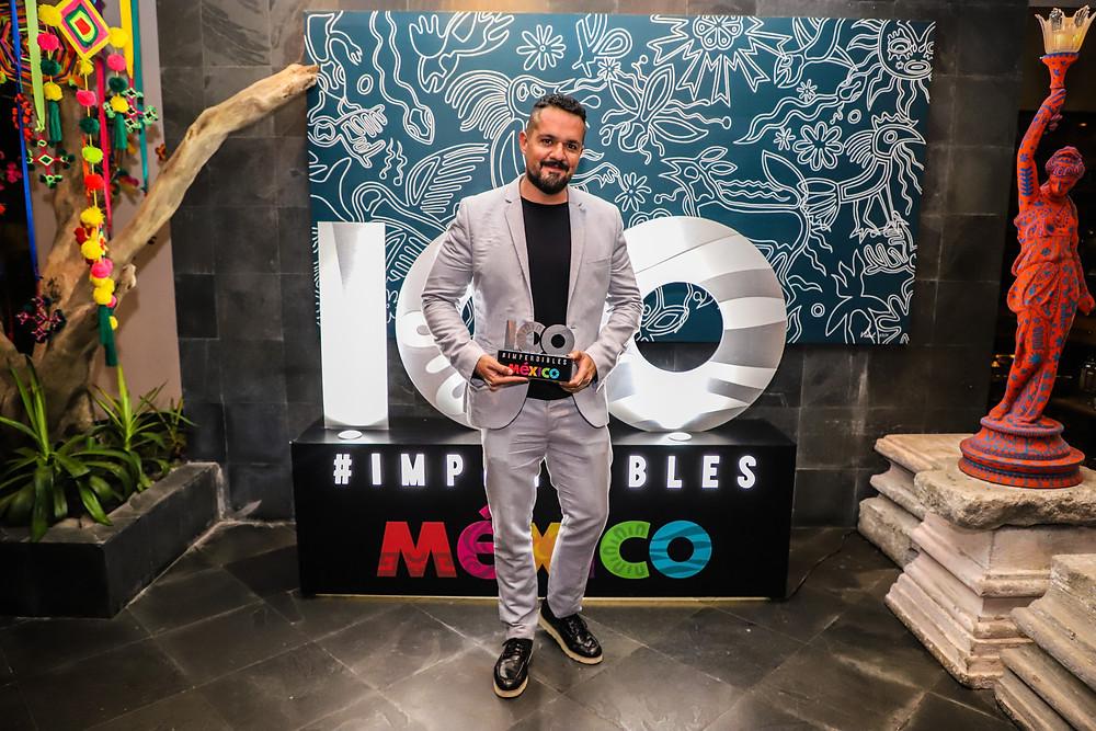 Thierry Blouet, creador de Café Des Artistes y ganador en la categoría de Gastronomía ,  James Huges director de St. Regis Punta de Mita y ganador en la categoría de Hoteles y Estancias , Juan Pablo Saloma director y fundador del Certamen los 100 Imperdibles de México y la guía nacional de turismo