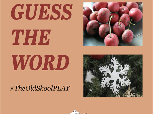 #TheOldSkoolPLAY | 2 pictures, Guess 1 word