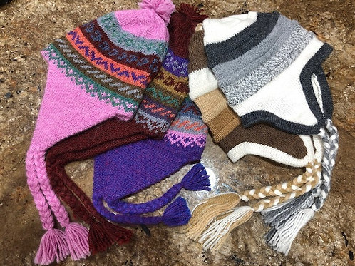 Children's alpaca hats