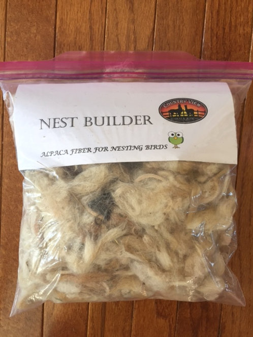 Alpaca Fiber Nesting Material for Birds (large)