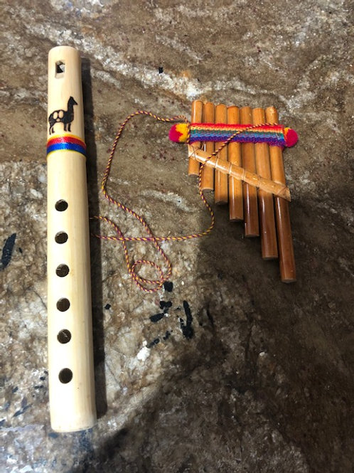 Pan pipes and flutes