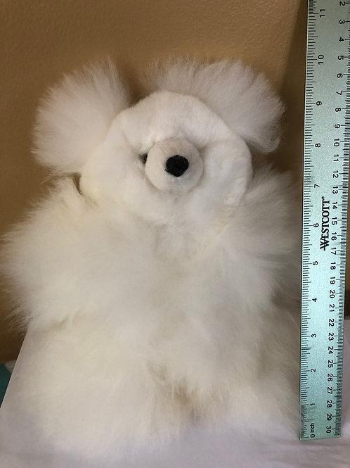 Real alpaca fur bear