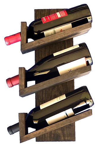 Wall Mounted Wine Rack - 3 bottle