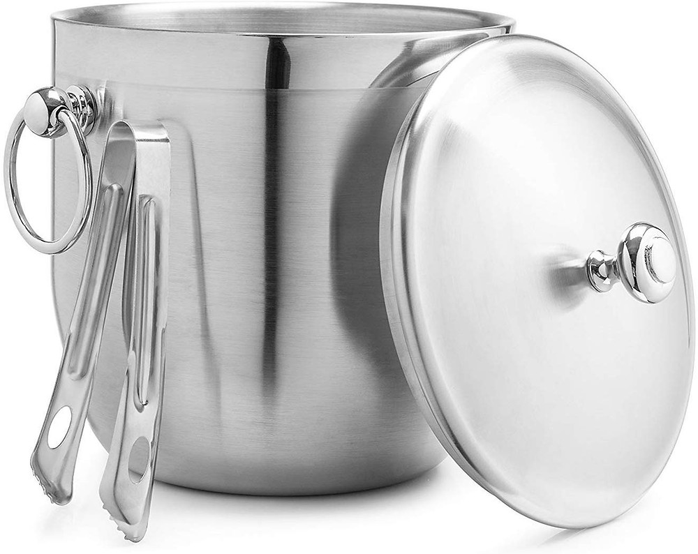 cheap ice bucket with tongs