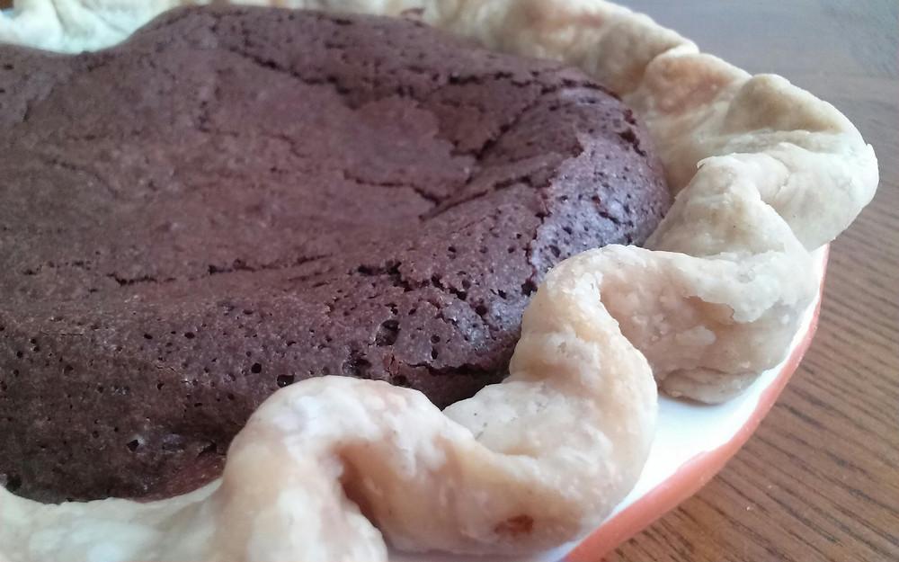 Handmade Chocolate Chess Pie