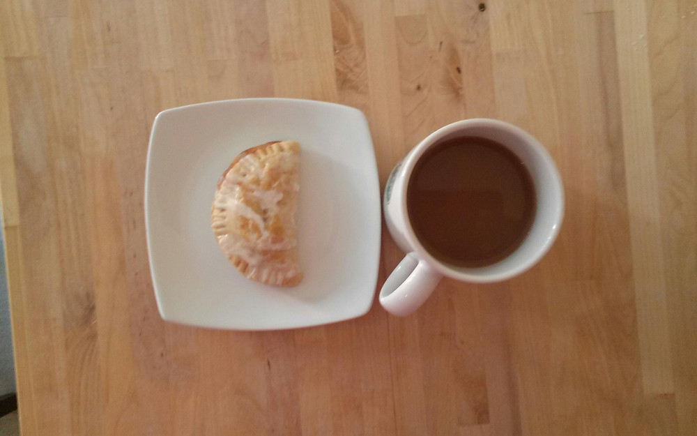 Peach Turnover and Coffee