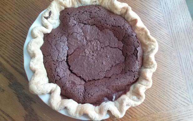 Chocolate Chess Pie - the fancy kind!
