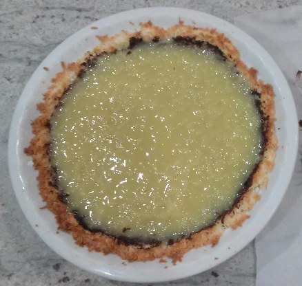 The Coco Lopez pie filling... GOOPY