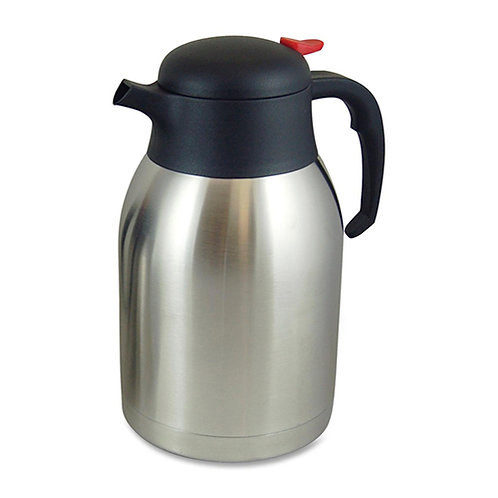 Genuine Joe Everyday Double Wall Vacuum Carafe 2.1 Quart (2 L) - Stainless Steel