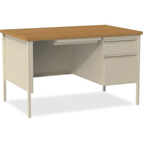 Lorell Fortress Series 48 Right Single-Pedestal Desk