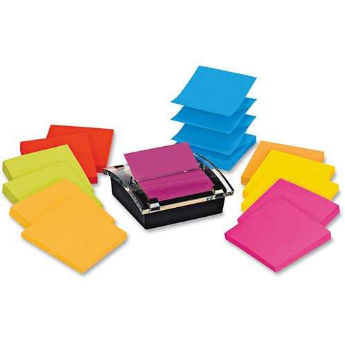 Post-it Sheet Super Sticky Note & Dispenser Value Pack, 3 x 3, 90-Sheet 12/Pack