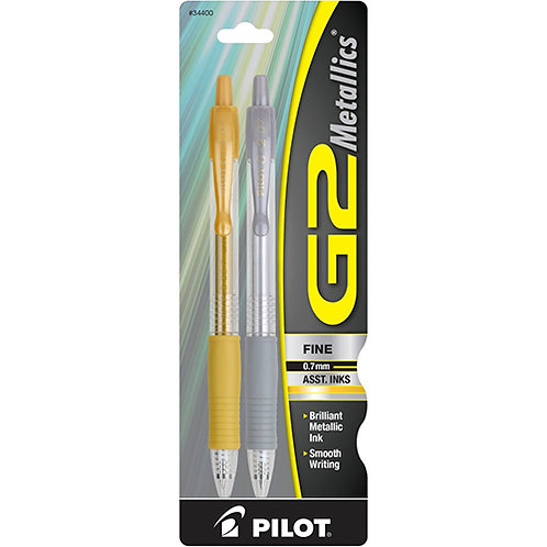 G2 Metallics Assorted Ink Pens Fine Point Type - 0.7 mm Point Size, Assorted