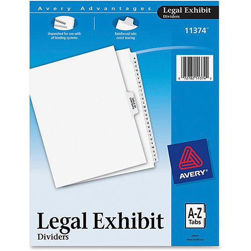 Avery-Style Premium Collated Legal Index Exhibit Dividers