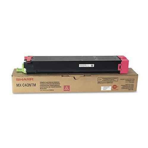 Sharp MX-C40NTM Toner Cartridge Genuine, Magenta