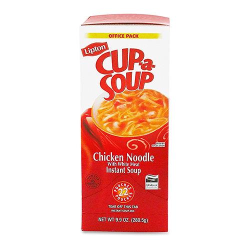 Lipton Chicken Noodle Cup-A-Soup Low Calorie - Cup - 1 Serving Cup - 22/Box