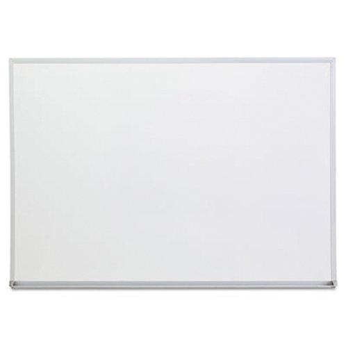 Dry Erase Board, Melamine, 24 x 18, Satin-Finished Aluminum Frame