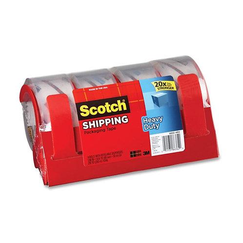 Scotch 3850 Heavy-Duty Packaging Tape - 4/Pack