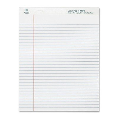 Business Source Ruled Legal Pad - 8.5 x 11 - Pack of 12 Pads of 50 Sheets