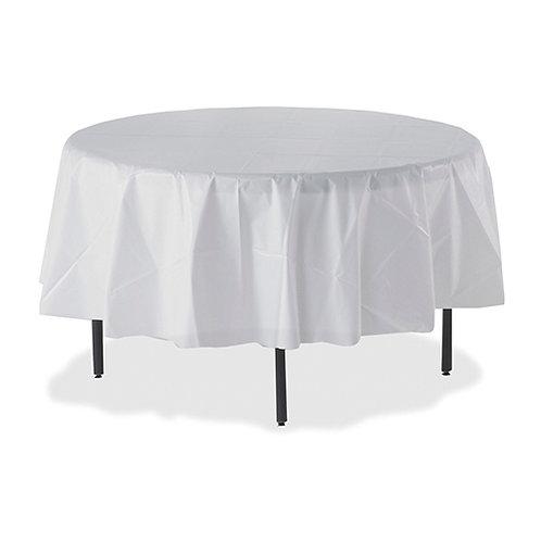 Genuine Joe Round Table Cover 84 - White