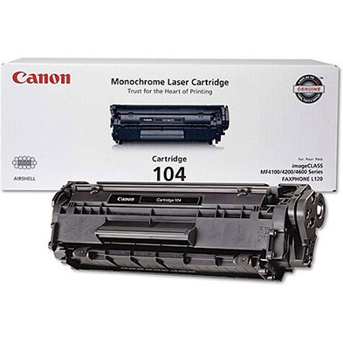 Canon 104 Toner Cartridge Genuine, Black