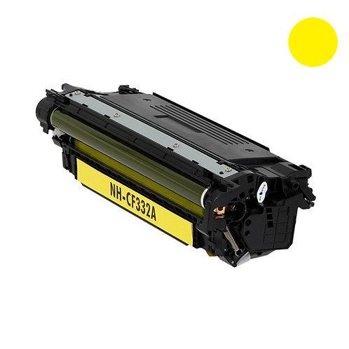 HP 654A Toner Cartridge Remanufactured, Yellow