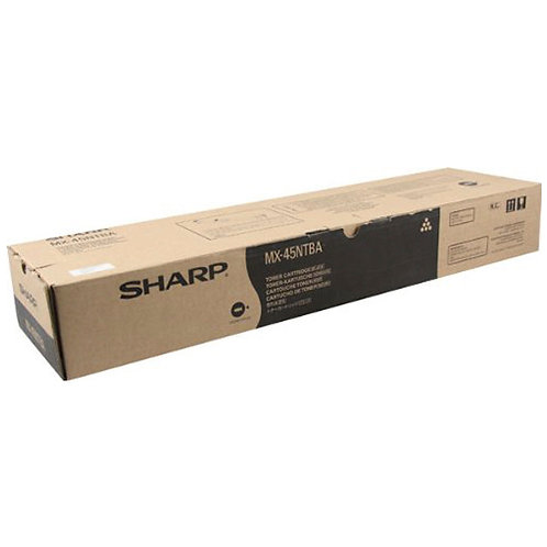 Sharp MX-45NTBA Toner Cartridge Genuine, Black