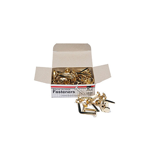"""Charles Leonard Brass Paper Fasteners 1"""" Capacity 100/Box"""