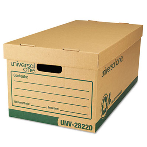 "Recycled Record Storage Box, Letter/Legal, 12"" x 24"" x 10"", Kraft, 12/Carton"