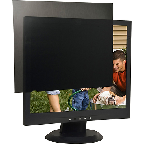 "Business Source 17"" Monitor Blackout Privacy Filter Black - For 17""LCD Monitor"