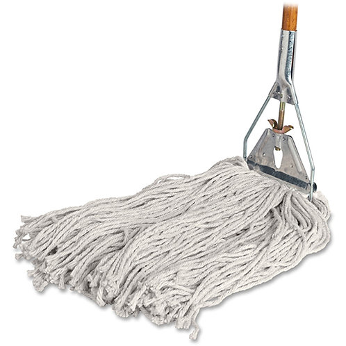 "Complete Mop, 4-Ply, 15/16""x60"" Wood Handle, 24 oz Head"