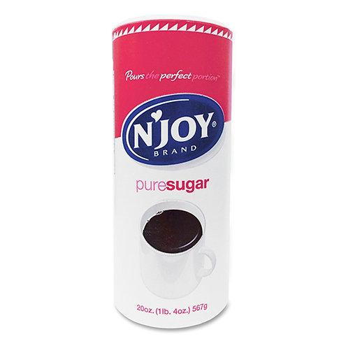 N'JOY Sugarfoods Pure Cane Sugar, 20 Oz Canister