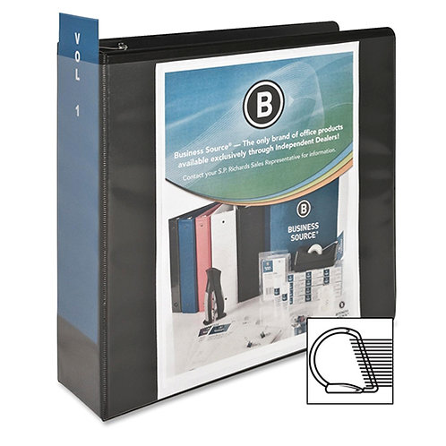 Business Source 3-Inch Slant Ring View Binder - Black