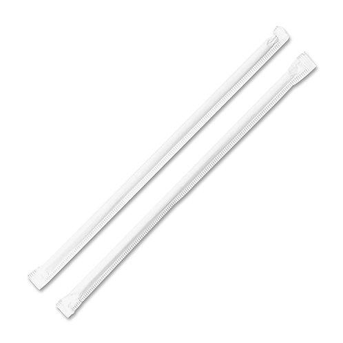 Genuine Joe Jumbo Translucent Wrapped Straw 7.75
