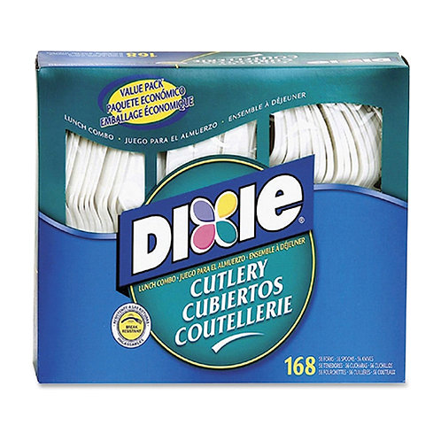 Dixie Foods Heavy-duty Cutlery 168 Piece(s) - 168/Box - Plastic - White