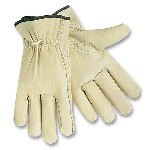 MCR Safety Driver Gloves Medium Size - Leather - Cream - 2 / Pair