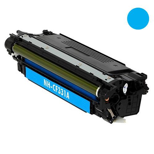 HP 654A Toner Cartridge Remanufactured, Cyan