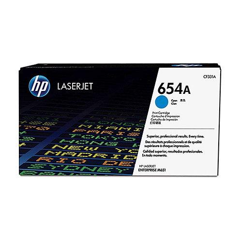 HP 654A Toner Cartridge Genuine, Cyan