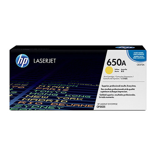 HP 650A Toner Cartridge Genuine, Yellow