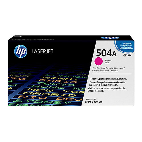 HP 504A Toner Cartridge Genuine, Magenta