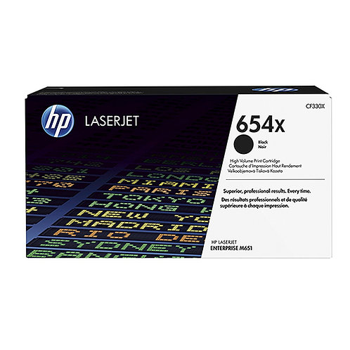 HP 654X Toner Cartridge Genuine, Black
