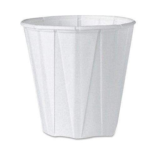 Solo Pleated Cup 3.5 oz - 100 / Pack - White - Paper