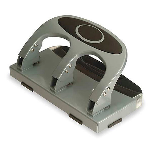 Officemate Deluxe 3-Hole Punch, Heavy Duty, with Chip Drawer, 45 Sheet Capacity