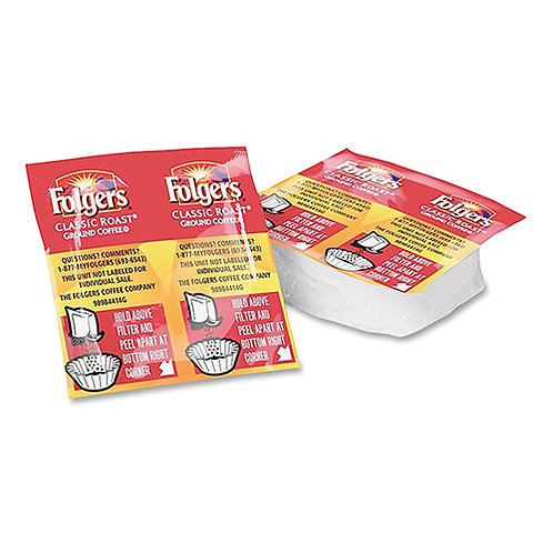 Folgers Ultra Roast Coffee Regular - 0.9 OZ Packets - 42/Carton