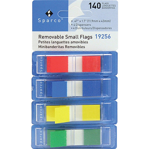 Sparco Pop-up Removable Small Flags - 140/Pack
