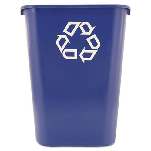 Rubbermaid Commercial Deskside Recycling Container - Plastic - 1/Each