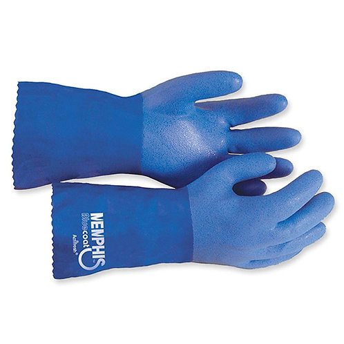 MCR Safety Seamless Gloves Large Size - Polyvinyl Choloride - Blue - 2/Pair