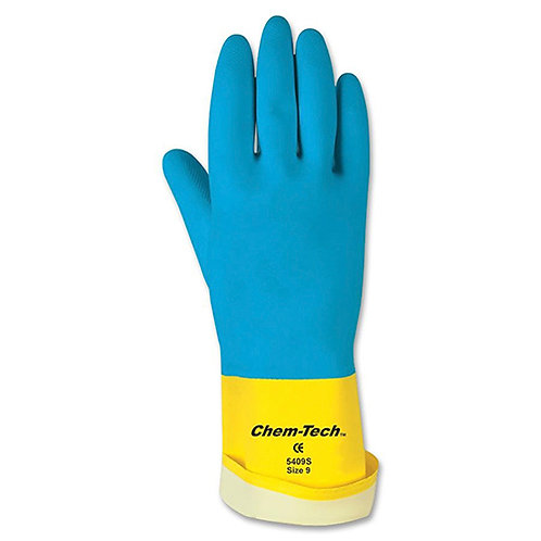 MCR Safety Chem-Tech Latex Pairs of Gloves - Large