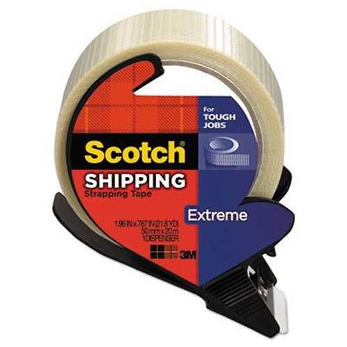 Extreme Application Packaging Tape amp; Dispenser, 1.88 x 21 yards, 3 Core