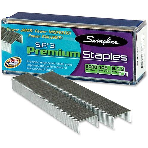 Swingline S.F. 3 Premium Staples 105 Per Strip - 1/4