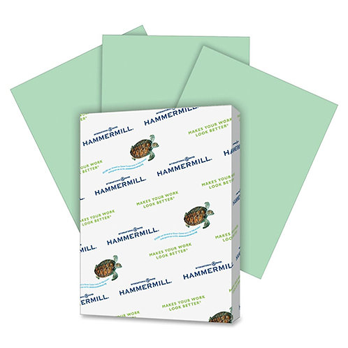 Hammermill Paper, Colors Green, 20lb, 8.5x11, Letter, 500 Sheets/1 Ream